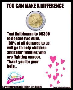 aoibheanns pink tie fundraiser