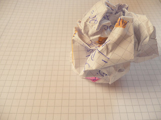 photo credit: writer's block - crushed and crumpled paper on notepad via photopin (license)