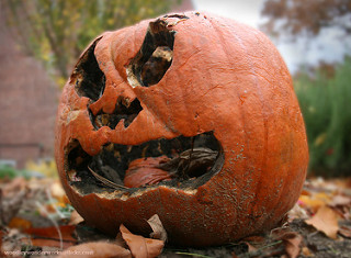 smile. rotten pumpkin