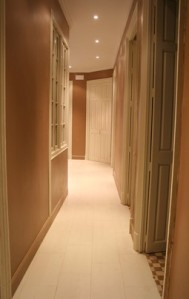 Spacious corridor.