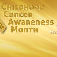 September, childhood cancer awareness month.