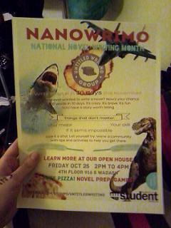 photo credit: ulianne [286/365] preparing for Nanowrimo via photopin (license)