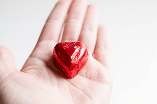 photo credit: wuestenigel Heart shape foil wrapped chocolate via photopin (license)